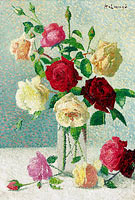 Achille Lauge: Vase of Roses (4)