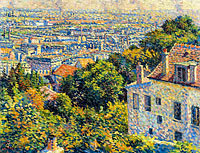 Montmartre, Cortot Street, View on Saint-Denis