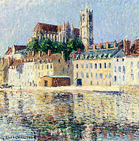 Gustave Loiseau: The Cathedral at Auxserre