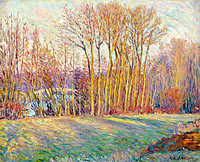 Анри Лебаск: Poplars in Autumn near Chalifert