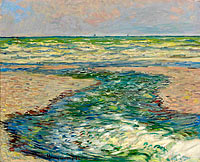 Claude Monet: The Seacoast of Pourville, Low Tide