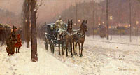 Frederick Childe Hassam: Paris, Winter Day