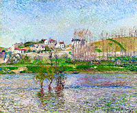 Camille Pissarro: The Flood at Pontoise