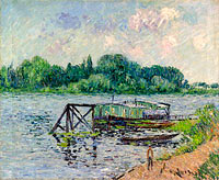 Гюстав Луазо: The Laun Place on the Seine at Herblay (2)