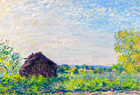 Альфред Сислей: Landscape with the Stack of Firewood