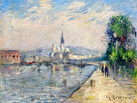Gustave Loiseau: Rouen, Banks of the Seine