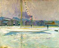 Paul-César Helleu: Yacht Entering the Port