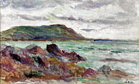 Seascape in Bretogne near Saint-Malo