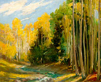 Joseph Henry Sharp: Aspen Forest, Hondo Canyon Near Taos