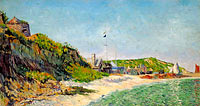 Paul Signac: Port-en-Bessin, the Beach