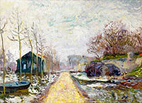 The Flood in Winter, Basse-Goulaine (Lower Reaches of Loire, near Nantes)