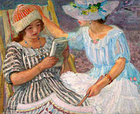 Henri Lebasque: Marthe and Nono