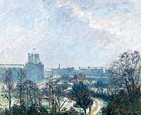 Camille Pissarro: The Garden of Tuileries and Pavilion de Flore, Snow Effect