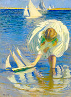 Edmund Charles Tarbell: Child with Boat