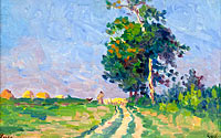 Maximilien Luce: Shepherd with Flack on the Road in the Outskirts of Moulineaux