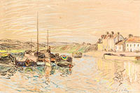 Alfred Sisley: The Channel of Loing at Saint-Mammes (2)