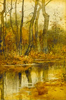 Frederick Childe Hassam: Stream in the Woods