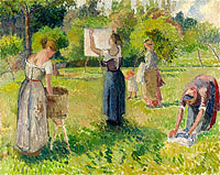 Laundresses at Eragny (study)
