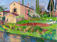 Henri Martin: The House of Marie-Louise in Spring at Labastide-du-Vert