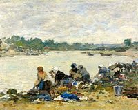 Laundresses at the Bank of the Touques (1)