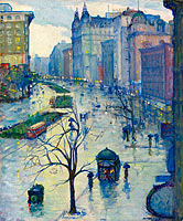 Leon Kroll: Broadway Looking South