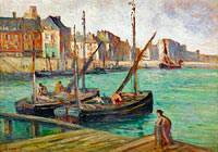 Maximilien Luce: Sailing Boats near the Moorage