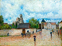 Alfred Sisley: Moret-sur-Loing, the Rain