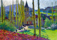Henri Martin: Going Out from the Mess at Labastide-du-Vert