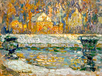 Henri Le Sidaner: The Pool of Neptune at Versailles