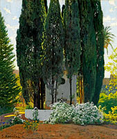 Santiago Rusiñol: The Cypress Fountain
