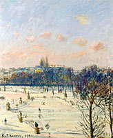 The Garden of Tuileries, Snow Effect