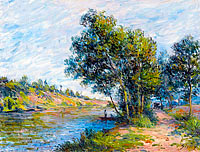 Alfred Sisley: The Road to Veneux and the Side of the Hill