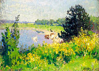 Pierre-Eugene Montezin: View on the Etang