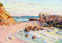 Jean-Baptiste-Armand Guillaumin: Rocks at Saint-Palais, Rising Tide