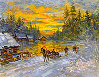 Konstantin Korovin: Troika at Sunset
