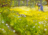 Marie Kroyer in the Garden at Skagen