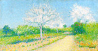 Achille Lauge: Almond Trees Blooming near Cailhau