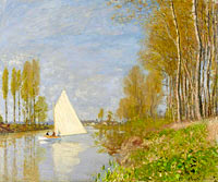 Claude Monet: Small Boat on the Small Branch of the Seine at Argenteuil