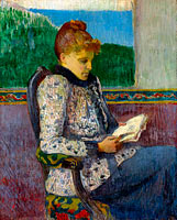 Henry Moret: Reading by the Window