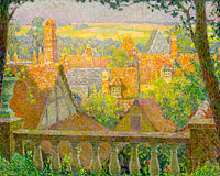 Henri Le Sidaner: On the Roofs