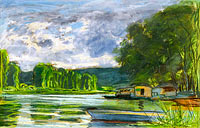 Claude Monet: The Banks of the Seine near Jeufosse (Eure)