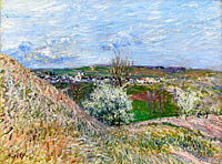 Alfred Sisley: The Hills of Saint-Mammes at Spring