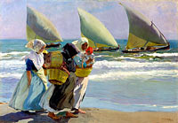 Joaquín Sorolla: Three Sails