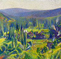 Henri Martin: Green Valley at Labastide-du-Vert