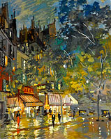 Konstantin Korovin: Paris Cafe by Night
