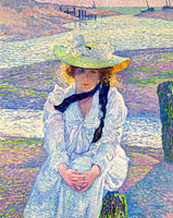 Young Woman on the Sand Shore