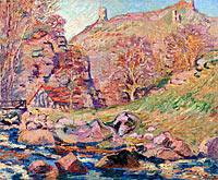 Jean-Baptiste-Armand Guillaumin: The Ruins of the Crozant Castle and the Watermill