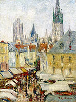 Gustave Loiseau: The Epicerie Street at Rouen