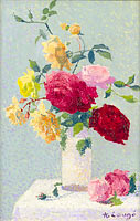Achille Lauge: Vase with Roses (2)
