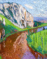 Henri Martin: The River of Lot and the Cliffs of Saint- Cirq-Lapopie